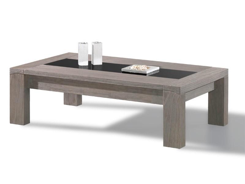 Table de salon h lios en bois massif d 39 oregon 4 pieds droits - Table de salon reglable ...