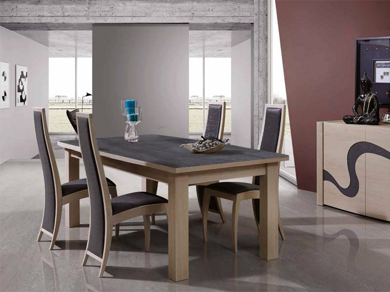 Table A Manger Melena En Chene Avec Plateau Ceramique Meubles Bois