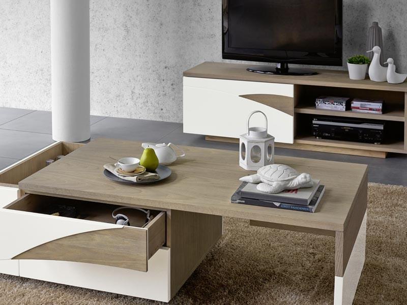 Meuble tv tivoli en ch ne massif 1 porte avec plateau coulissant meubles b - Meuble tv coulissant ...