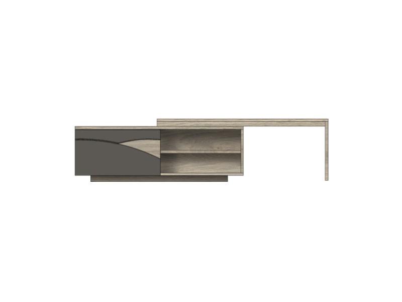 meuble tv tivoli en ch ne massif 1 porte avec plateau. Black Bedroom Furniture Sets. Home Design Ideas