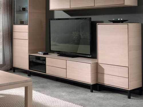 buffet haut modus en ch ne semi massif avec details en ceramique meubles bois massif. Black Bedroom Furniture Sets. Home Design Ideas