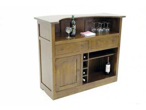 meuble bar moderne moka en bois massif de ch taignier. Black Bedroom Furniture Sets. Home Design Ideas