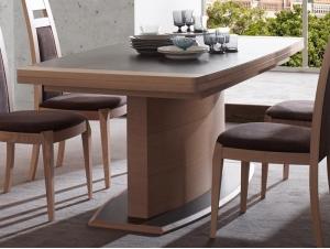 table manger marina en ch ne semi massif pied central. Black Bedroom Furniture Sets. Home Design Ideas
