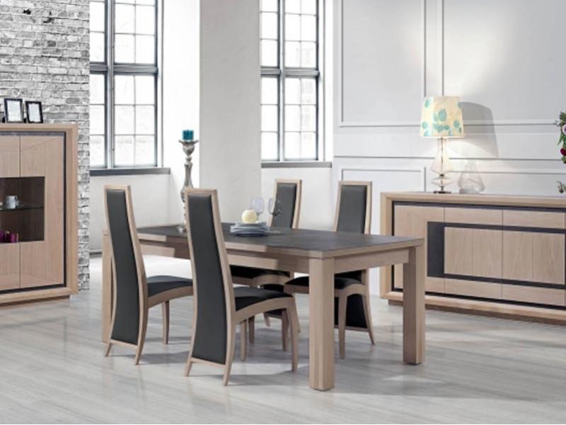 table manger june en ch ne plateau c ramique meubles bois massif. Black Bedroom Furniture Sets. Home Design Ideas