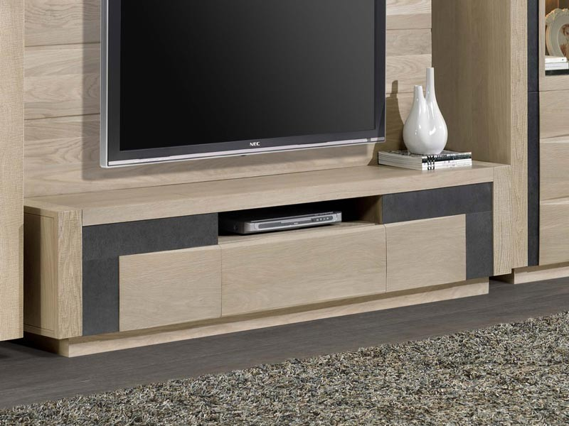 meuble tv etoile en ch ne 2 porte 1 tiroir meubles bois. Black Bedroom Furniture Sets. Home Design Ideas