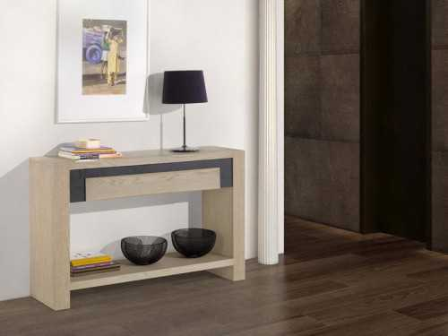 console en ch ne etoile double plateau avec tiroir meubles bois massif. Black Bedroom Furniture Sets. Home Design Ideas