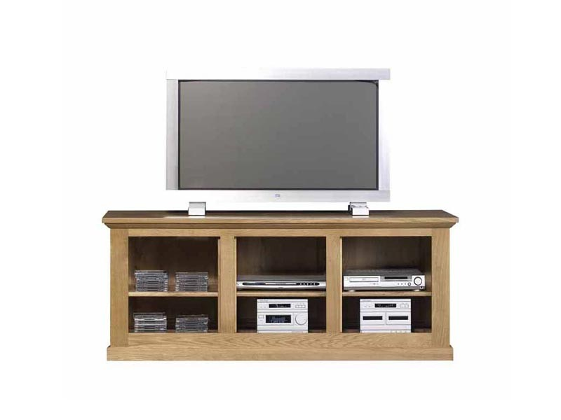 meuble tv mathilde en ch ne massif 6 niches ouvertes meubles bois massif. Black Bedroom Furniture Sets. Home Design Ideas