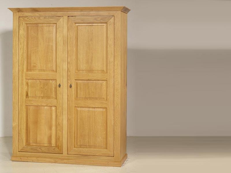 armoire style rustique mathilden en ch ne massif 2 3 ou. Black Bedroom Furniture Sets. Home Design Ideas
