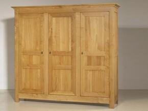 armoire rustique honorine 4 portes en ch ne 2 tiroirs. Black Bedroom Furniture Sets. Home Design Ideas