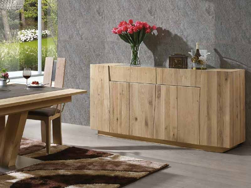 bahut flower en ch ne massif 3 ou 4 portes avec tiroirs meubles bois massif. Black Bedroom Furniture Sets. Home Design Ideas