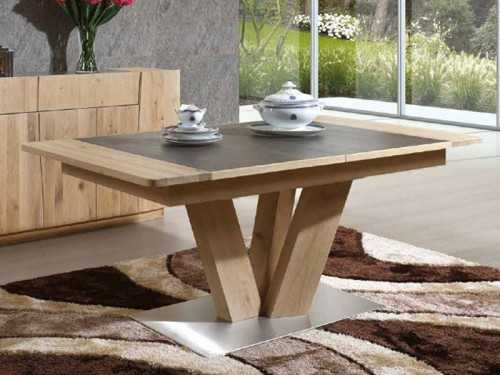 table manger en bois de ch ne flower rectangulaire avec. Black Bedroom Furniture Sets. Home Design Ideas