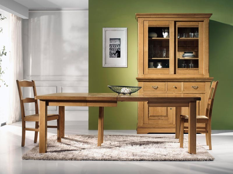 table manger carr e en ch ne massif mod le rustique avec allonges meubles bois massif. Black Bedroom Furniture Sets. Home Design Ideas