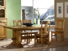 Table à manger rustique double poutre