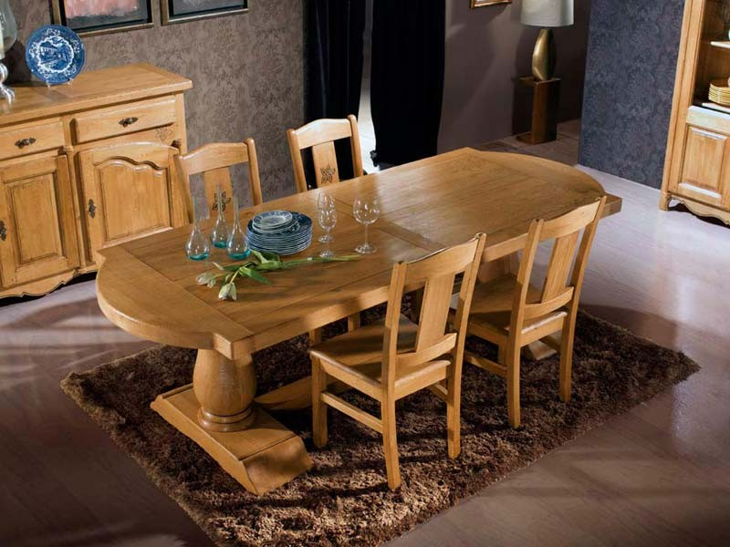 table en chene massif avec rallonges trendy table en chene massif avec rallonges choisissez. Black Bedroom Furniture Sets. Home Design Ideas