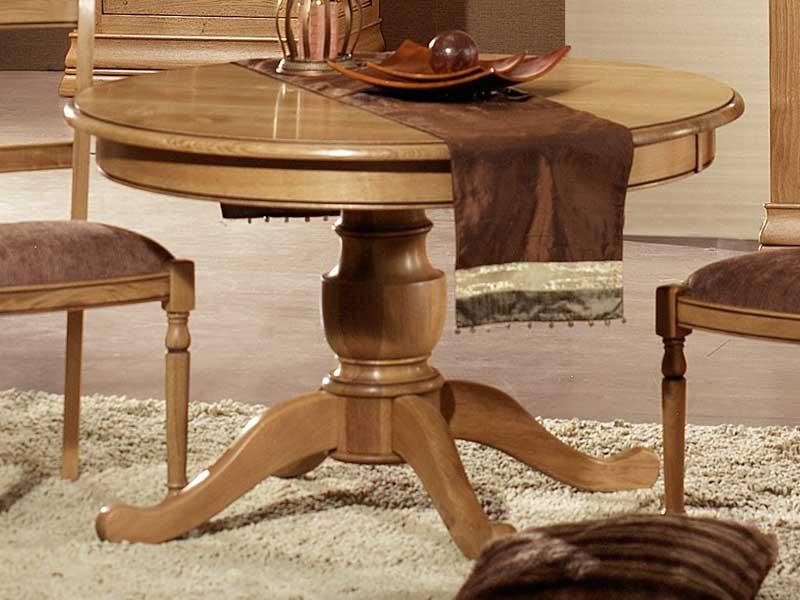 Table à Manger Rustique Format Rond En Chêne Massif Meubles Bois