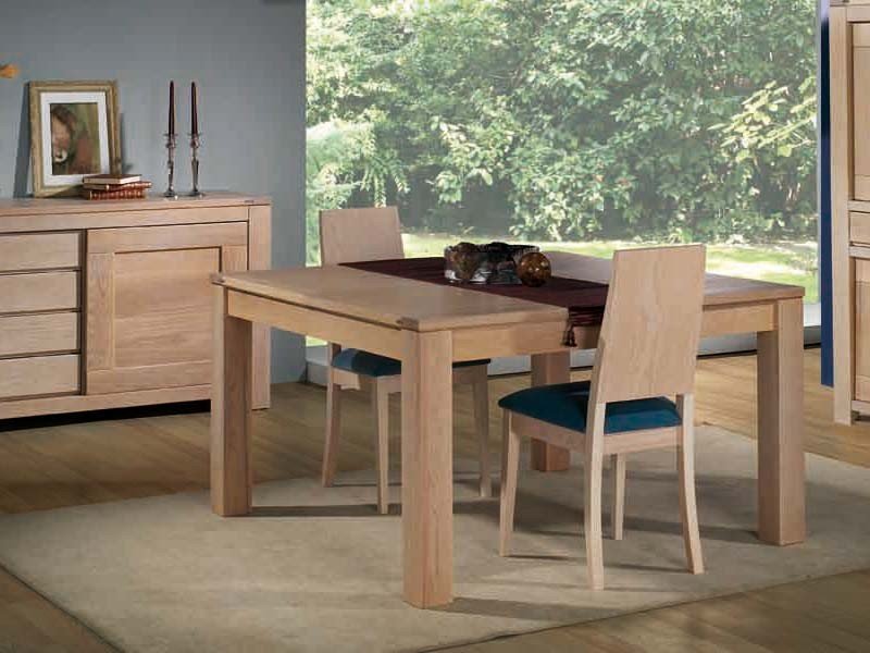 table de repas en ch ne massif format carr avec allonge meubles bois massif. Black Bedroom Furniture Sets. Home Design Ideas