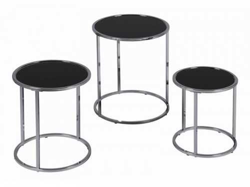 Set de tables gigognes inox
