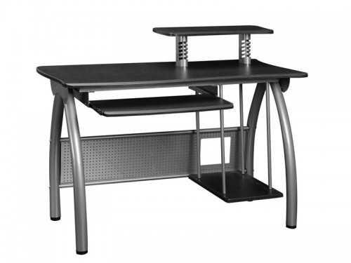 Bureau moderne en metal gris plateau en bois stratifié avec