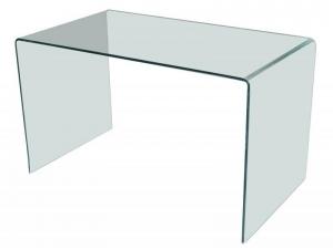 Bureau design en verre courb transparent d 39 un seul - Bureau en verre fly ...