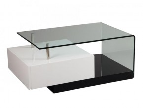 Table basse laque blanche