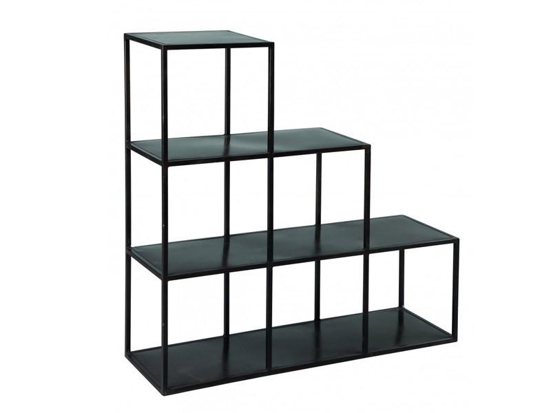 etag res en acier mod le ouvert en escalier look. Black Bedroom Furniture Sets. Home Design Ideas
