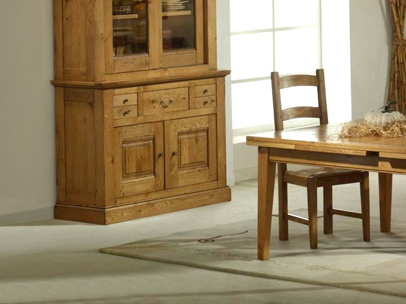 Buffet rustique honorine en ch ne massif 2 ou 3 portes meubles bois massif - Buffet rustique chene massif ...
