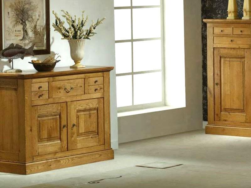 buffet rustique honfleur en ch ne massif 2 ou 3 portes. Black Bedroom Furniture Sets. Home Design Ideas