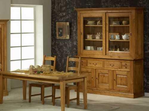 vaisselier rustique en chene massif honfleur buffet et haut de bibliotheque meubles bois massif. Black Bedroom Furniture Sets. Home Design Ideas