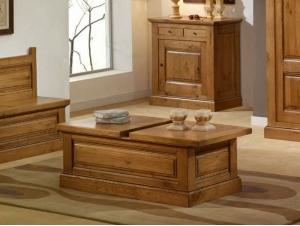 table basse bar avec coffrage honfleur en chene massif meubles bois massif. Black Bedroom Furniture Sets. Home Design Ideas