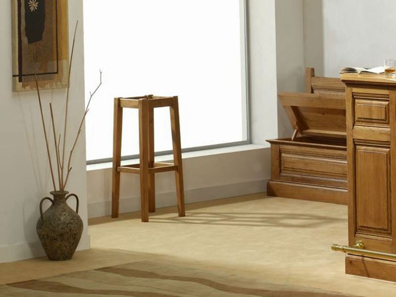 tabouret de bar rustique honorine en ch ne massif assise paille meubles bois massif. Black Bedroom Furniture Sets. Home Design Ideas