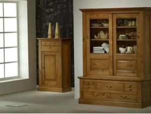 vaisselier bas rustique honfleur en ch ne massif. Black Bedroom Furniture Sets. Home Design Ideas