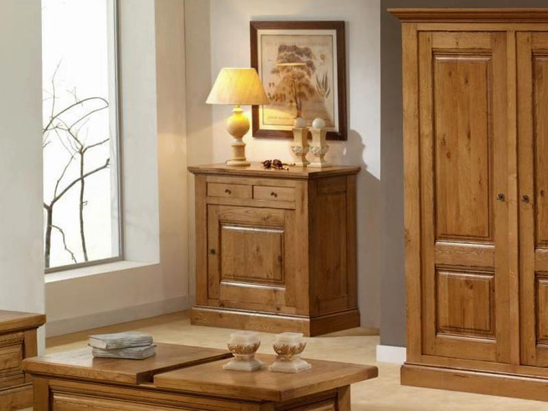 confiturier honorine en ch ne massif 1 porte 2 tiroirs de style rustique meubles bois massif. Black Bedroom Furniture Sets. Home Design Ideas