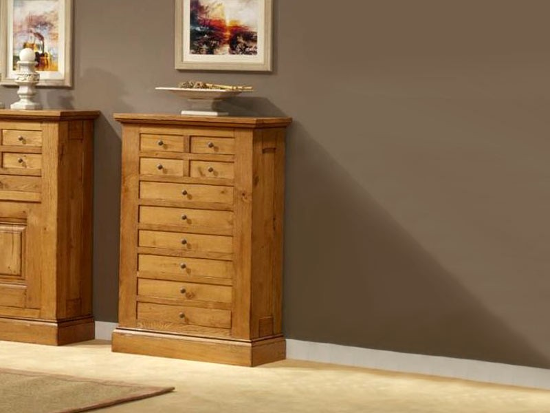 meuble d 39 entr e honorine en chene massif 10 tiroirs meubles bois massif. Black Bedroom Furniture Sets. Home Design Ideas