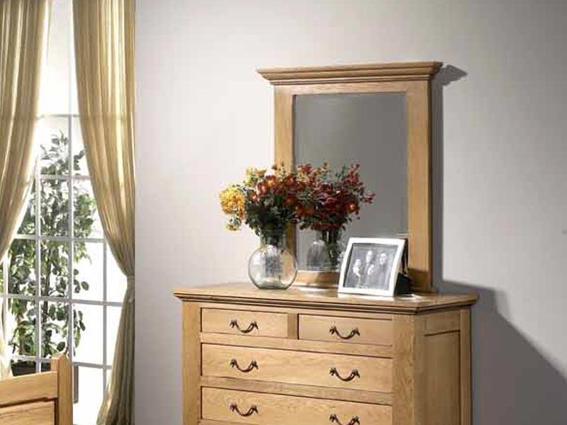 miroir en ch ne massif honfleur pour commode meubles bois massif. Black Bedroom Furniture Sets. Home Design Ideas
