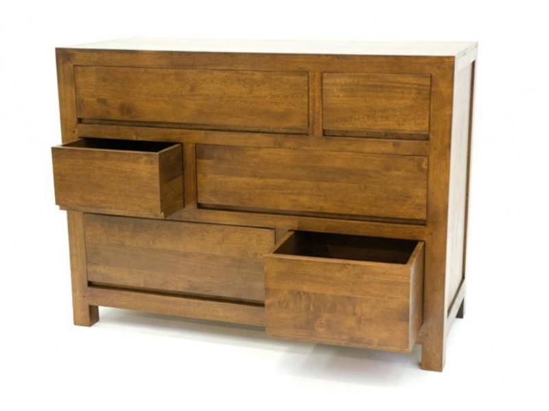 commode oscar 6 tiroirs avec poign es int gr es meubles bois massif. Black Bedroom Furniture Sets. Home Design Ideas