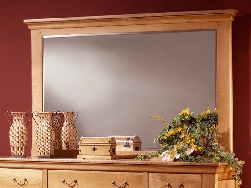 Miroir en ch ne massif silver mod le rustique 3 formats for Miroir rustique