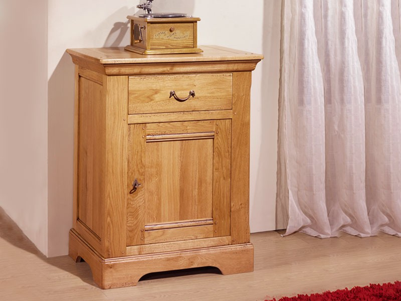 Confiturier rustique silver 1 porte 1 tiroir en ch ne massif meubles bois massif - Meuble confiturier ...