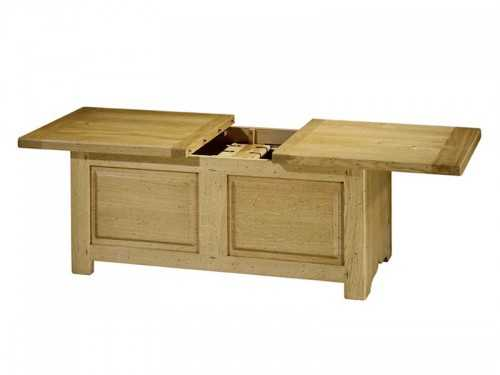 table basse bar paros avec coffrage en chene massif meubles bois massif. Black Bedroom Furniture Sets. Home Design Ideas