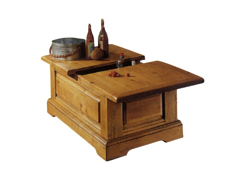 Table basse bar perrine en ch ne massif - Table de salon reglable en hauteur ...