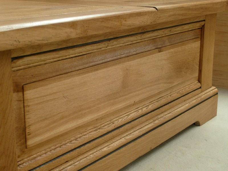table basse bar perrine en ch ne massif. Black Bedroom Furniture Sets. Home Design Ideas