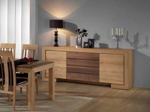 buffet contemporain ruban en bois massif. Black Bedroom Furniture Sets. Home Design Ideas