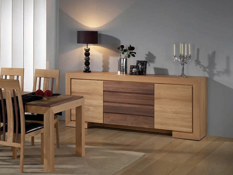 Buffet contemporain ruban en bois massif - Buffet chene massif contemporain ...