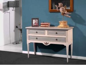 console en merisier de style classique et color avec 3 tiroirs meubles bois massif. Black Bedroom Furniture Sets. Home Design Ideas