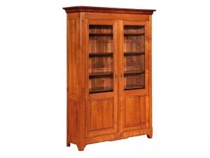 vitrine classique en merisier massif 2 portes meubles bois massif. Black Bedroom Furniture Sets. Home Design Ideas