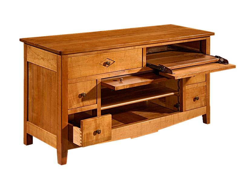 meuble tv classique 6 tiroirs. Black Bedroom Furniture Sets. Home Design Ideas