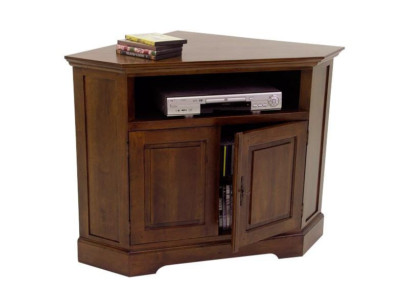 meuble d 39 angle tv cocoon en hevea massif. Black Bedroom Furniture Sets. Home Design Ideas