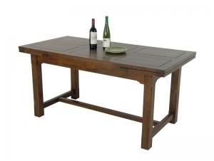 table de ferme en ch taiginier massif m tis plateau bois plein 2 allonges meubles bois massif. Black Bedroom Furniture Sets. Home Design Ideas