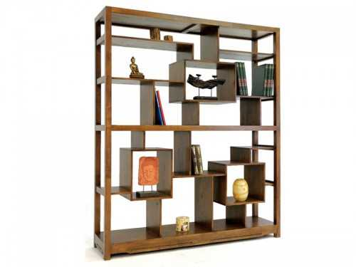 biblioth que ouverte moka mod le destructur e en bois de ch taignier meubles bois massif. Black Bedroom Furniture Sets. Home Design Ideas