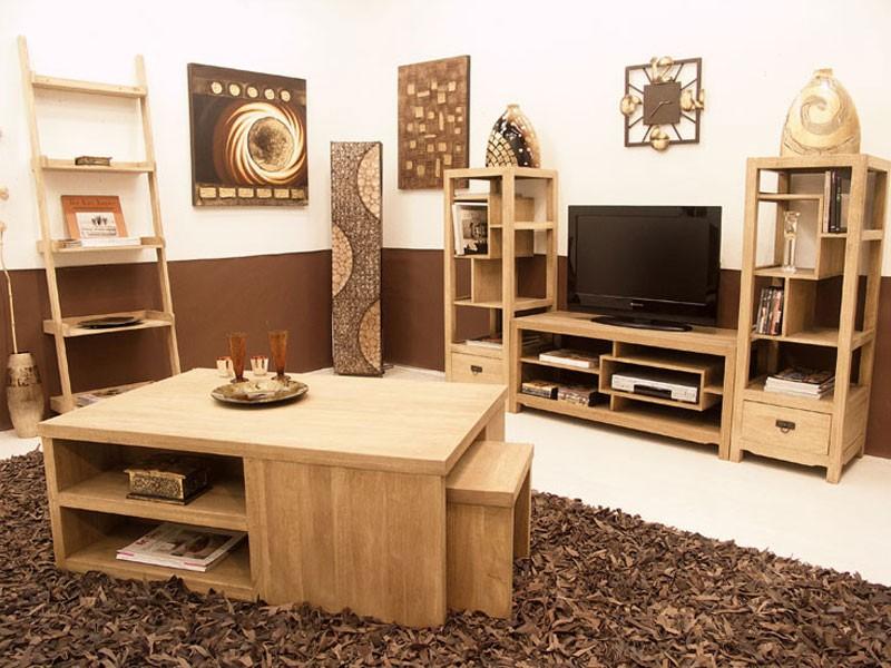 colonne ouverte moka avec tag res d structur es 1 tiroir meubles bois massif. Black Bedroom Furniture Sets. Home Design Ideas