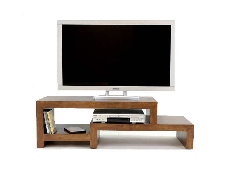 banc tv moka 3 plateaux destructur s en bois de ch taignier meubles bois massif. Black Bedroom Furniture Sets. Home Design Ideas